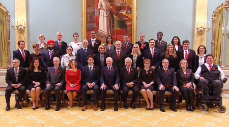 "Justin's parliamentary cabinet proves he picked the right ""person"" for the job, not the right man."
