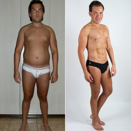 Rodrigo shares his before and after pics