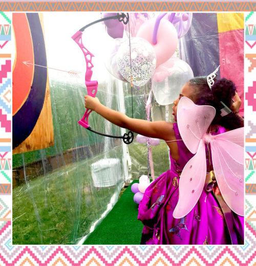 Princess archery.  Image: Beyonce.com