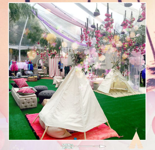 Teepee anyone? How gorgeous is this set-up?  Image: Beyonce