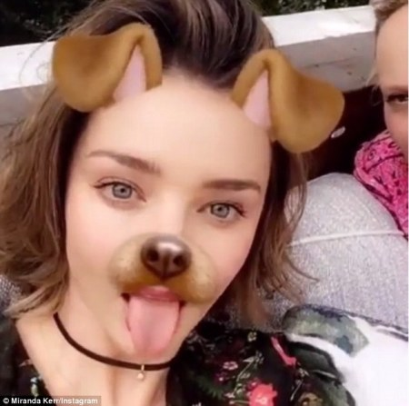 How to look gorgeous with the puppy dog ears and tongue filter...