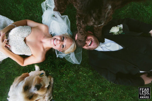 Who doesn't love a dog that steps on your face mid-shot? Photo credit: Brett Yacovella