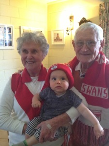 My beautiful Nan, Pa and my son Bax.