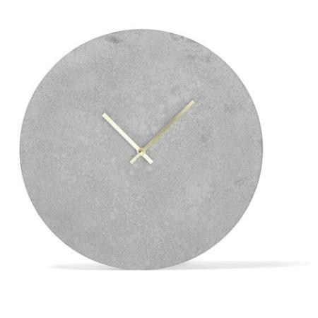 Probably not great for teaching kids time but looks fab. Concrete Look clock $!2.