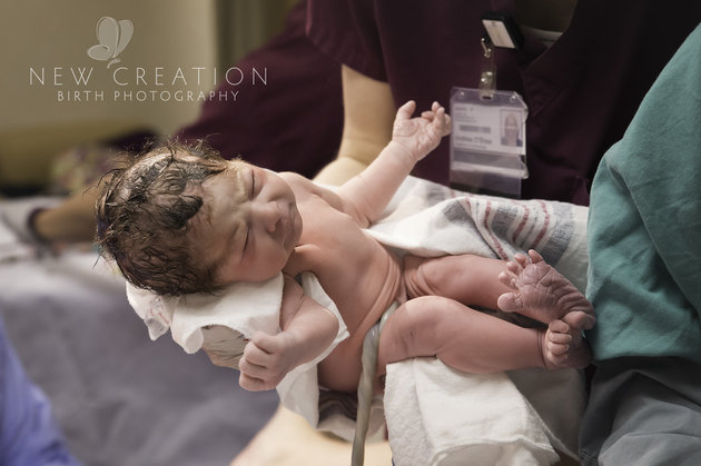 On her way to meet her mum. Image: New Creation Photography Birth Photography