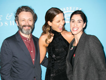 """Sarah is dating Michael Sheen and is great friends with his ex Kate Beckinsale. Kate said of Sarah: """"We get on really well. I mean, I love Sarah, I'd love her if she didn't have anything to do with Michael. I'm just glad Michael found her."""""""