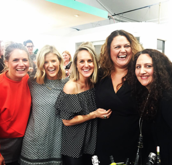 Stace, Brooke, Monty, Chrissie Swan and Anna from DiGiorgio Wines AKA our best friend.