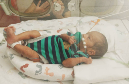 Doctors say Ean jr is making amazing progress considering how early he was born