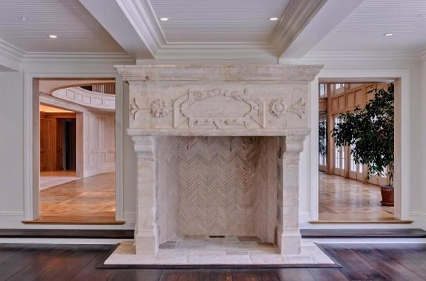 Carved stone is a feature throughout. Image: Jeffrey Colle