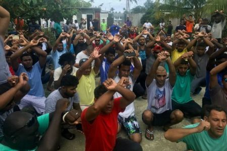 Refugees of manus island hours before the centre closes