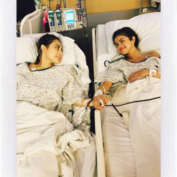 Selena Gomez after her kidney transplant.
