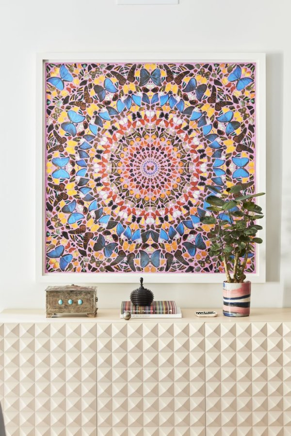 Damien Hirst's 'Butterfly Kaleidoscope'  Image: Better Homes & Gardens / Justin Coit