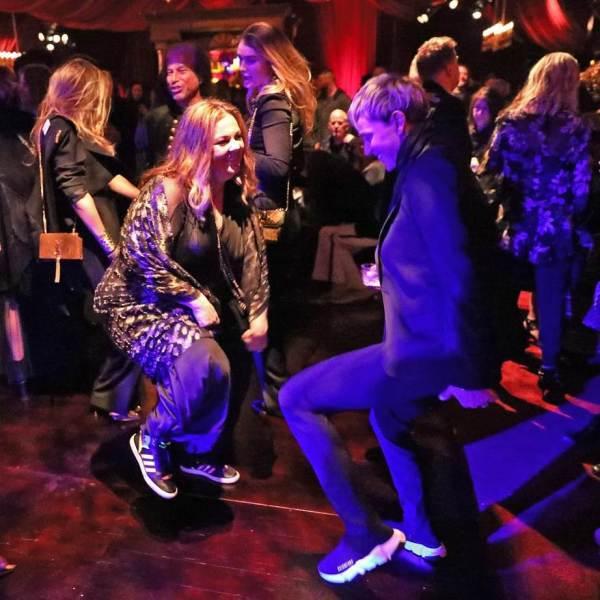 Ellen and Melissa McCarthy tearing up the dance floor.